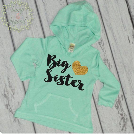 Big Sister Shirt Sibling Big Sister Hoodie Big Sister Announcement by BumpAndBeyondDesigns