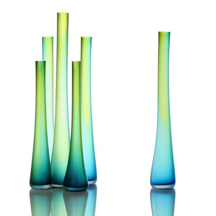 beautifulFurniture Makeover, Eva Milinkov, Blue Green, Tube Vases, Glasses Art, Art Center, Aqua, Bright Colors, Tsunami Glasswork