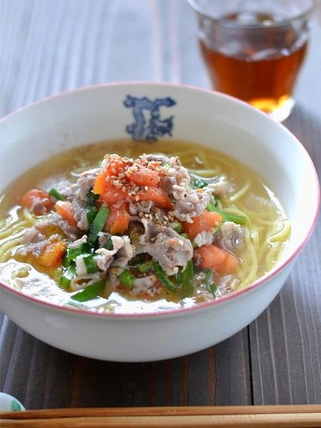 豚ニラトマト塩ラーメン by ロマンスグレーガール | レシピサイト ...