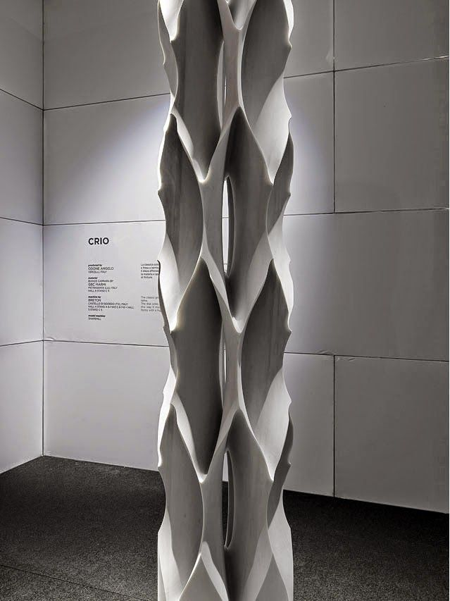 A column with such an impressive #shape made of #marble! #Marmomacc 2014