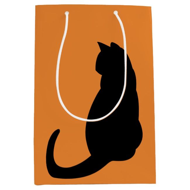 Black Cat double-sided Medium Gift Bag | Zazzle.com