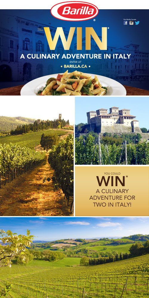 Put your Barilla IQ to the test for a chance to WIN* a culinary adventure for 2 in Italy! #winatriptoItaly