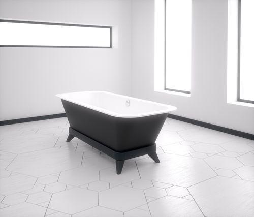 Bathtub with legs / acrylic ALFA ESSENTIAL 175x75 + PIES DECO HIDROBOX - ABSARA