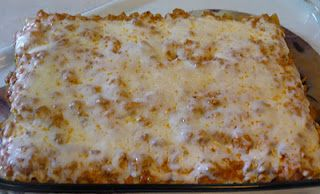 LASAGNA I usually put ricotta cheese on my lasagna but my friend Lorie told me to switch it out with cream cheese. There is no going back :)