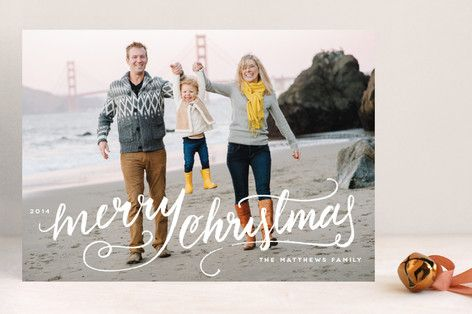Winter Brush Christmas Card by Kristen Smith for Minted