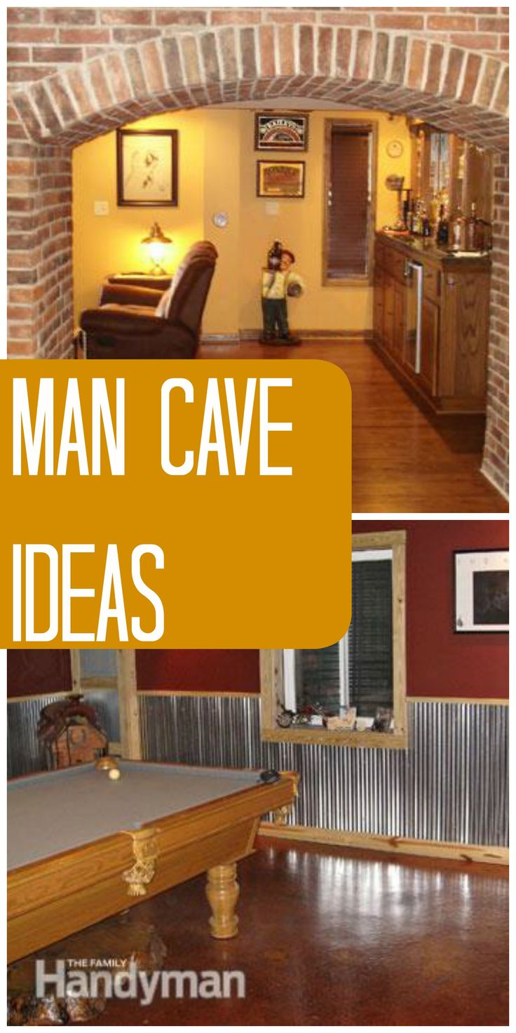 Best Images About Man Cave Ideas And Items On Pinterest - Man cave garage bar
