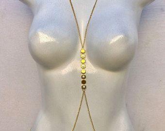 15% de descuento venta, oro cadena del cuerpo cuerpo cadena, cadena de cuerpo de cristal, joyería del cuerpo bikini, cuerpo simple cadena, bralette cadena, arnés de cuerpo