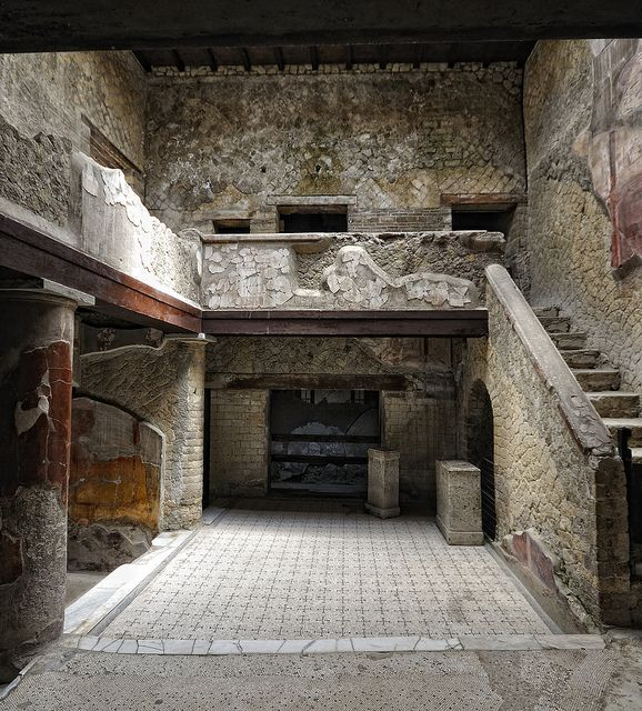Excavated Ruins Of Herculaneum  --  Destroyed during the eruption of Mount Vesuvius on 24 August 79 CE.