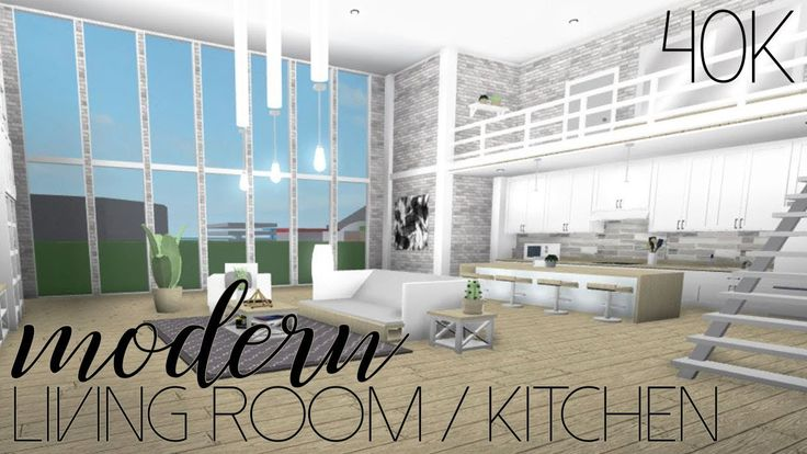 Roblox Welcome To Bloxburg Modern Living Room Kitchen