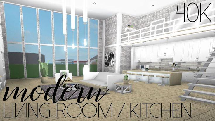 Roblox Welcome To Bloxburg Modern Living Room Kitchen