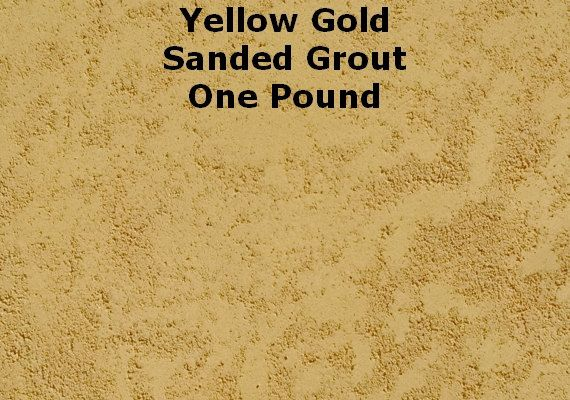 Mosaic Grout 1 Lb. Yellow Gold SANDED Grout One by MosaicGourmet