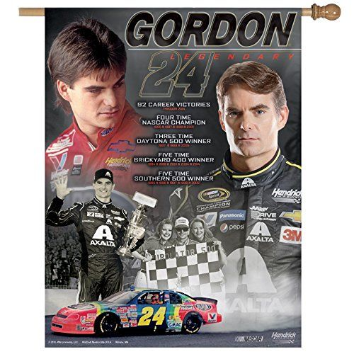 "cool NASCAR Jeff Gordon Retirement Vertical Flag, 27 x 37"" Check more at http://jeffgordoncollectibles.com/product/nascar-jeff-gordon-retirement-vertical-flag-27-x-37/"
