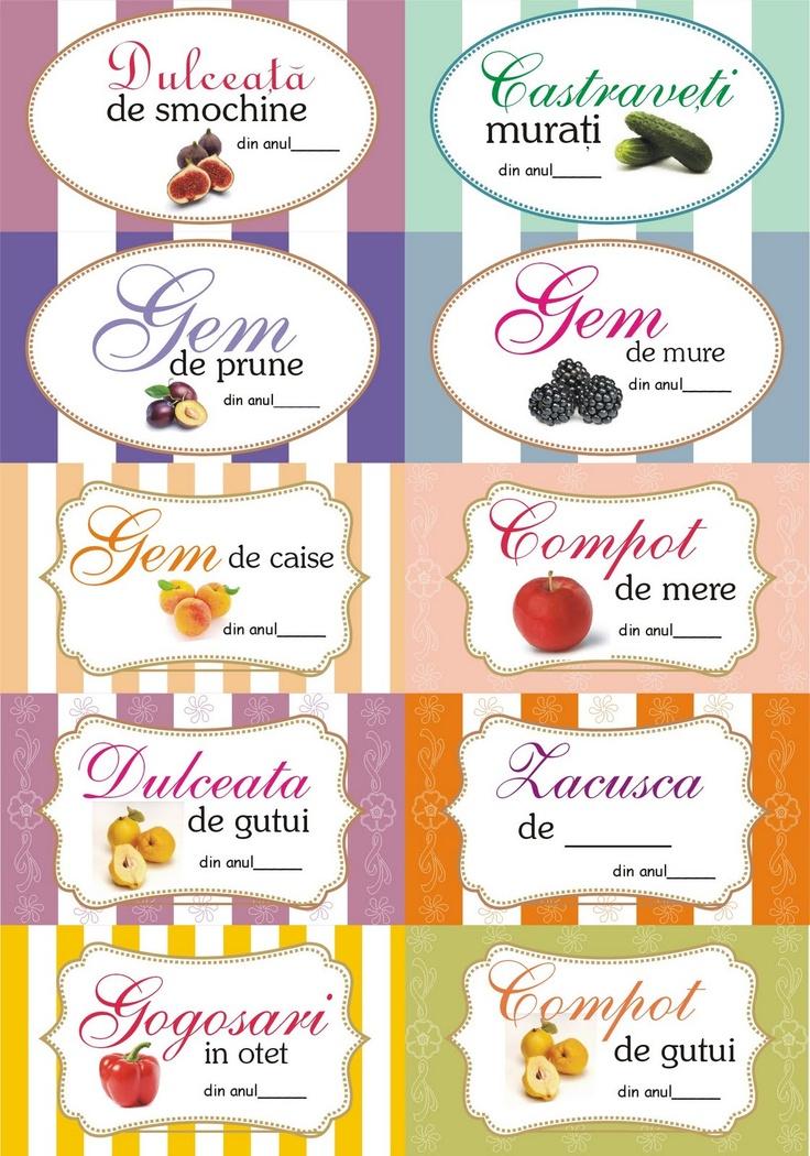 Etichete pentru borcane ~ bucatar maniac