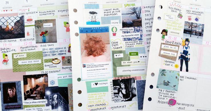 Kuvat kertovat paljon arjesta ja palauttavat muistoja mieleen. Nyt kuvamuistot ovat löytäneet tiensä myös planneriini.