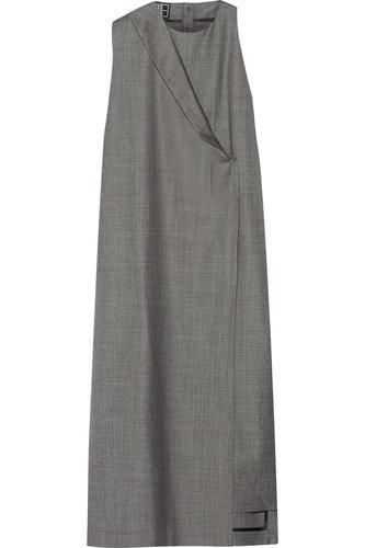 Draped wool-gabardine midi dress #dress #women #covetme #1205
