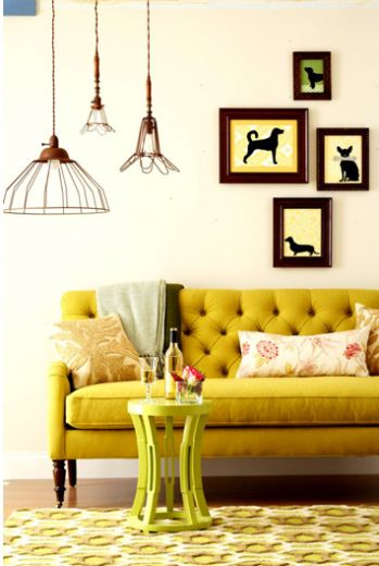 Lovely yellow couch