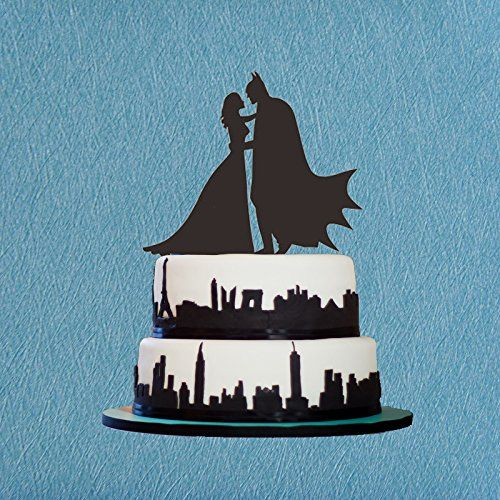Bride and Groom Cake Topper,Batman Silhouette,Bridal Show...