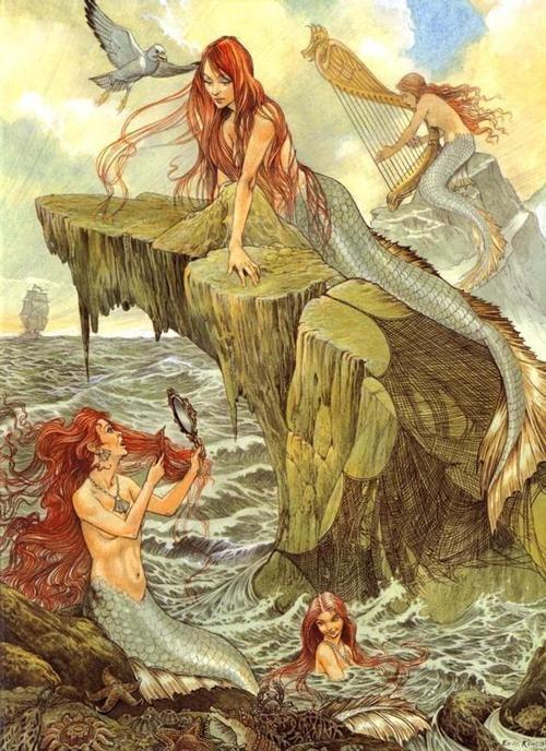 мифология сирены с картинками представить