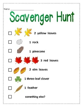 Fall Party: Visual Fall Scavenger Hunt (can modify to work in Texas!)