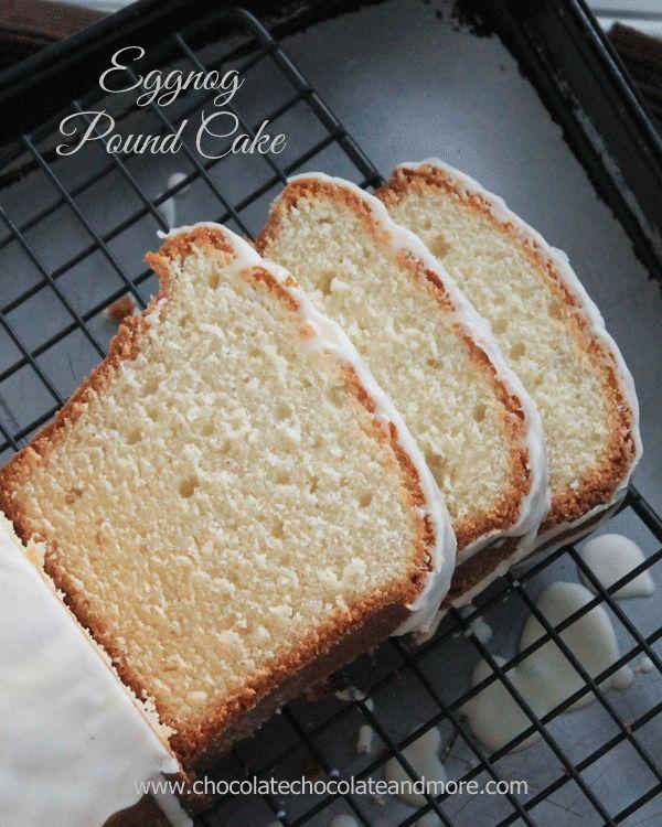 Eggnog Pound cake with Eggnog Glaze