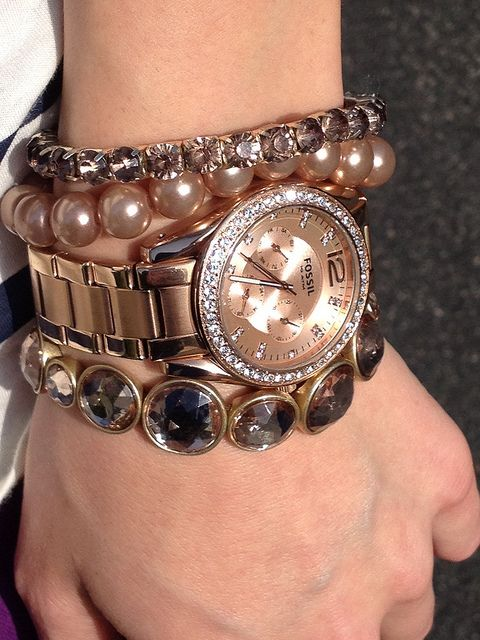 Fossil rose gold arm candy- that's the watch that i have!