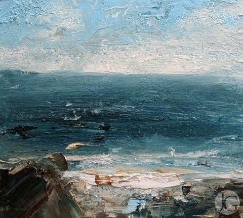 Landscape pictures by Louise Balaam from The Jerram Gallery, Sherborne, Dorset.  Contemporary British pictures and sculpture