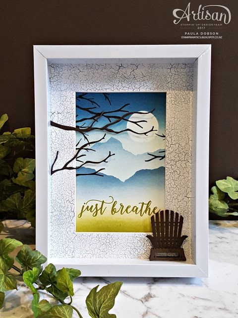 Paula Dobson - Stampinantics: Just Breathe Home Decor Stampin' Up! Artisan Blog Hop featuring the Colorful Seasons suite of products.  CLick on the picture to see more of Paula's projects #pauladobson #stampinantics #colorfulseasonsstampset #artisandesignteam