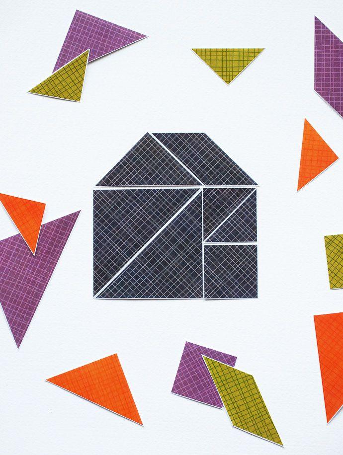 DIY Tangrams Puzzle Game