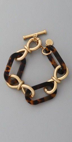 Good Life of Design: Tortoise Shell A Fall Wardrobe Staple.  Love this bracelet!