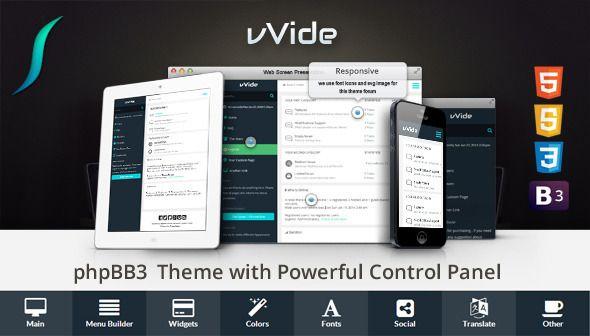 Wide - #Responsive Premium Template #phpBB 3.1 #PhpBBForums via @medosadvert