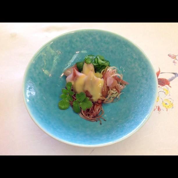 蛍烏賊 酢味噌掛け at 日本料理 八幸 http://www.hachiko73.co.jp/
