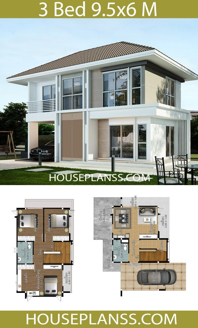 House Design Plans Idea 9 5x6 With 3 Bedrooms Home Ideassearch