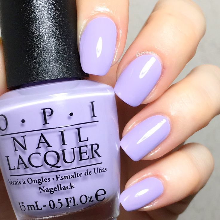Polly want a lacquer? - OPI Fiji collection, light purple polish, opaque in 2 coats