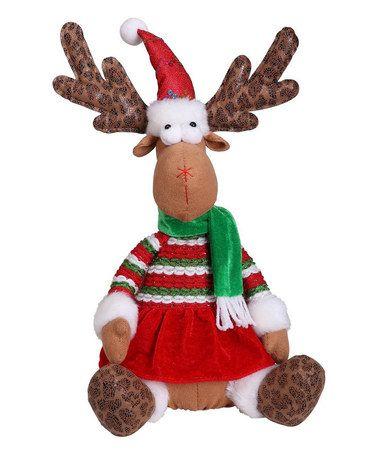 Another great find on #zulily! Sitting Girl Reindeer Plush Décor #zulilyfinds
