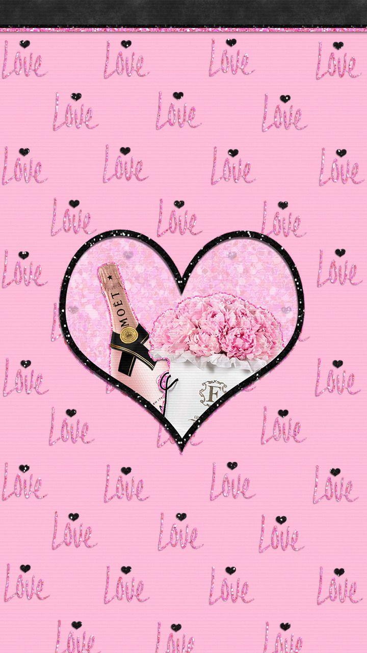Wallpapers Romantic Pink Wallpapers Pink Wallpaper Glitter Wallpaper Heart Wallpaper