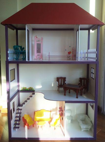 Top 25 best casinha de boneca barbie ideas on pinterest - Casa para barbies ...