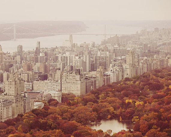 Autumn in New York - Central Park, NYC Photography, Upper West Side, Fall Foliage, Rust Earth Tones