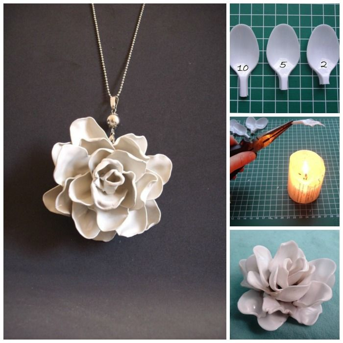 How to Make a Plastic Spoon Rose - http://diyforlife.com/make-plastic-spoon-rose/ - #Crafts, #PlasticSpoon, #Rose