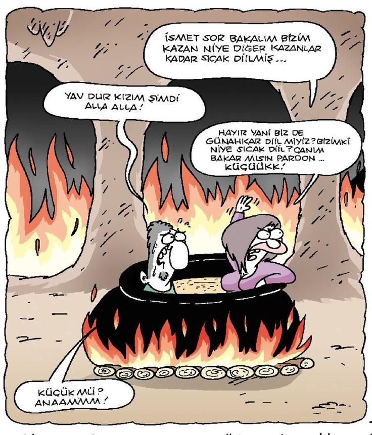 Cehennem'de bir zaman... Cartoon by Serkan Altuniğne