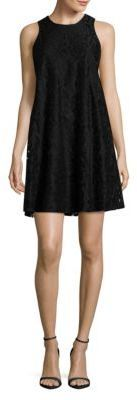 Tommy Hilfiger Sleeveless Floral Lace Trapeze Dress