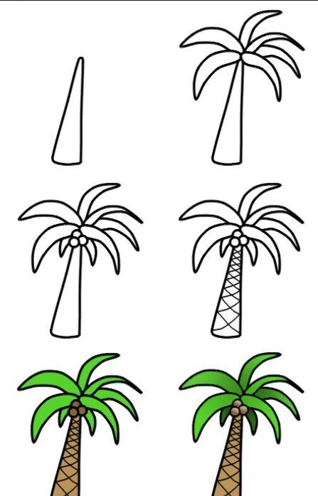 Como dibujar una palmera