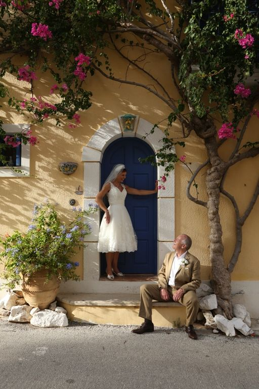 Photoshooting in a traditional house of Asos' village with the beautful bouganville!!!! http://www.kefaloniawedding.com/ #weddingingreece #ionianislands #kefalonia #mythosweddings