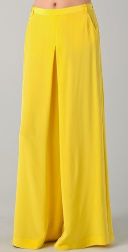 Tibi Wide Leg Pants-- like the style but the color is a bit too bold & vibrant for my taste. My rule of thumb is to be classic but incorporate a few fashion forward pieces. If I even think I could look back at a pic of myself wearing an article of clothing I'll regret, I won't buy it!!
