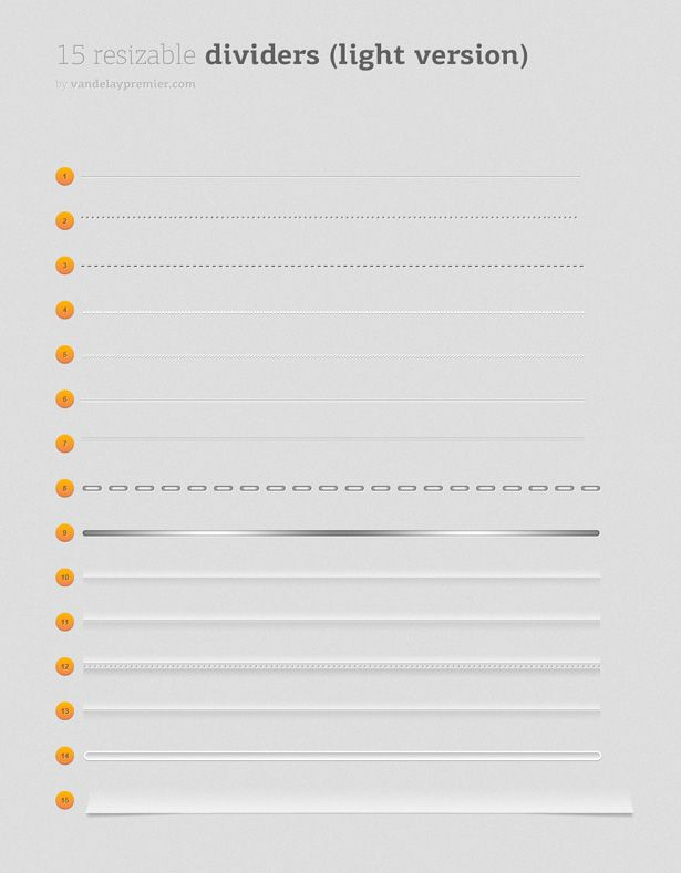 Resizable Dividers