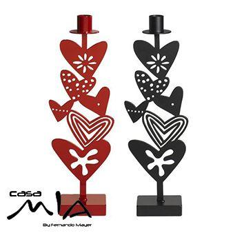 Candelabros corazones rojo , corazones negro   Klippan