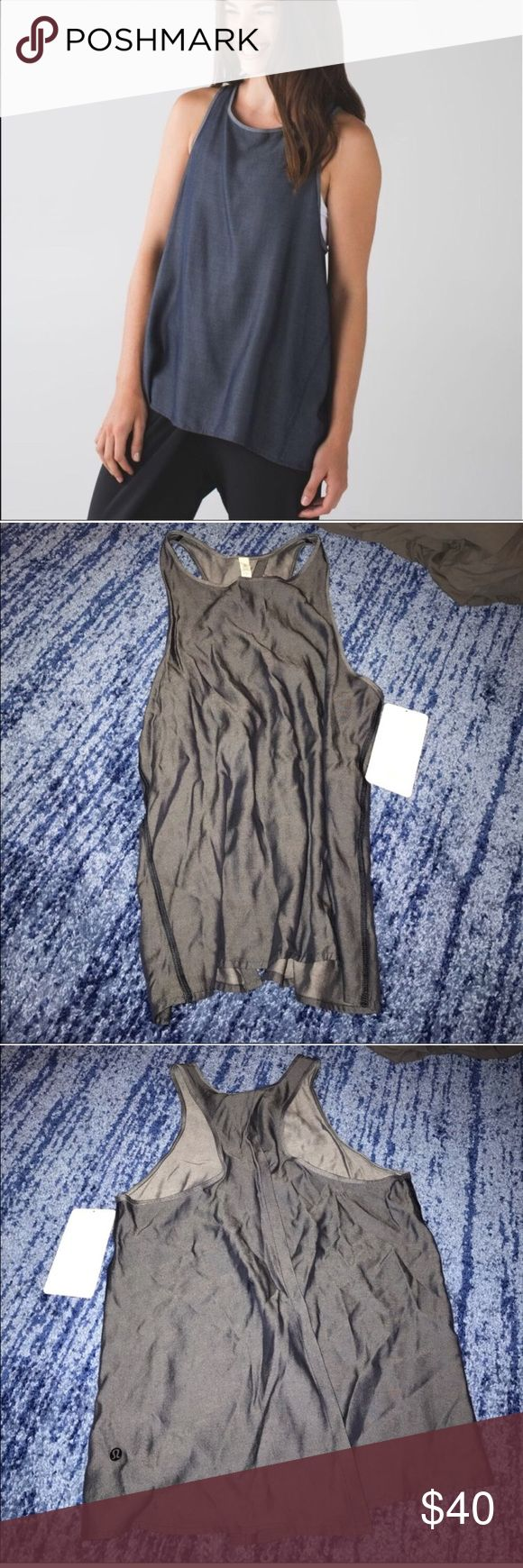 Lululemon all tied up size 8 All tied up tank. Size 8 new with tags. Tencel fabric lululemon athletica Tops Tank Tops