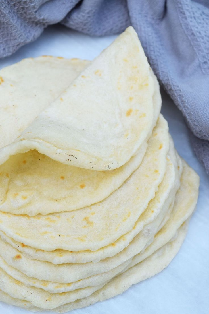 Soft, fluffy homemade flour tortillas are the perfect addition to any taco night!