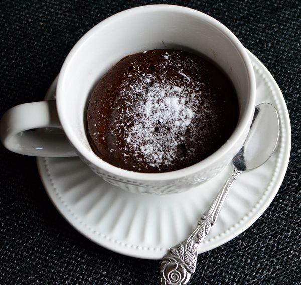 Kveldskos - sunnere sjokoladefondant på 30 sekunder! - Bakekona