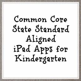 Common Core Aligned iPad Apps for Kindergarten