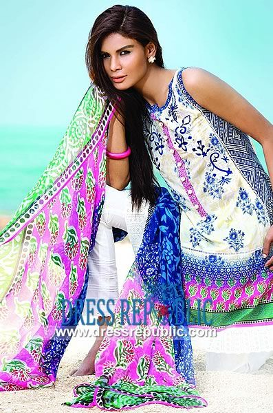 So Kamal Pakistani Lawn Dresses Online 2014  Zara Shahjahan Embroidered Lawn Collection 2014 titled So Kamal in Affordable Prices with Personalized Tailoring Service for a Perfect Fit. by www.dressrepublic.com